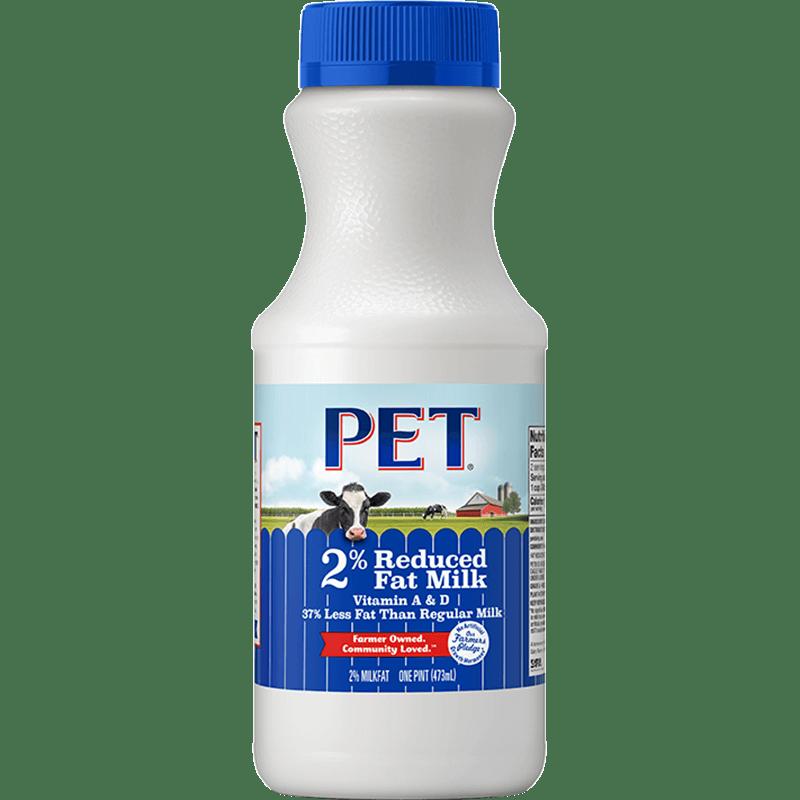 2% Reduced-Fat Milk Plastic Pint
