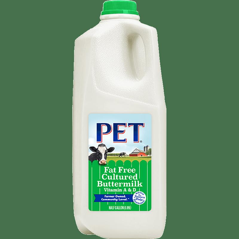 Fat-Free Buttermilk Plastic Half Gallon