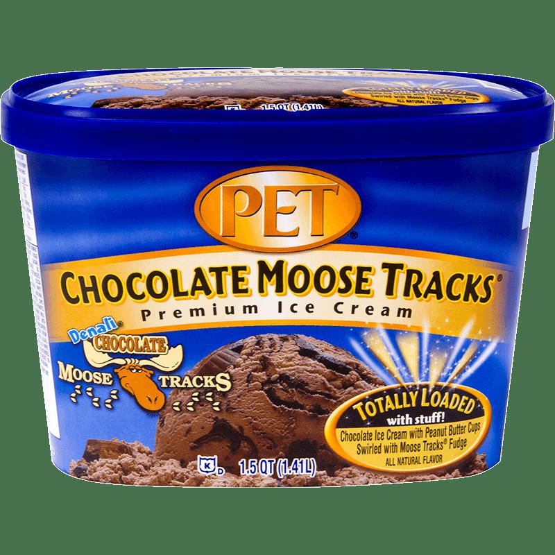 Chocolate Moose Tracks® Ice Cream 1.5 Quart