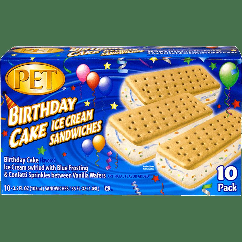 Birthday Cake Ice Cream Sandwiches 10 Pk