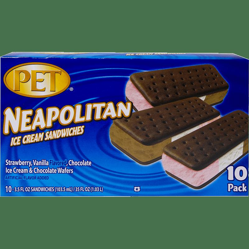 Neapolitan Ice Cream Sandwiches 10 Pk
