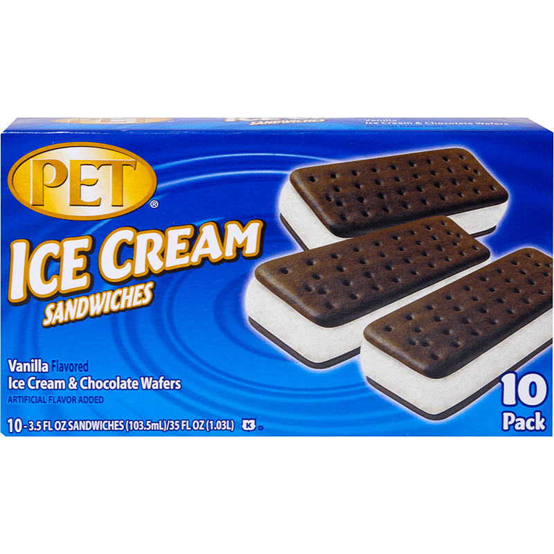 Vanilla Ice Cream Sandwiches 10 Pk